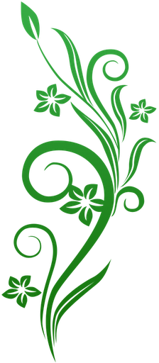 Green Flower Line Drawing : Vines swirl green flowers http syedimranphotoshop